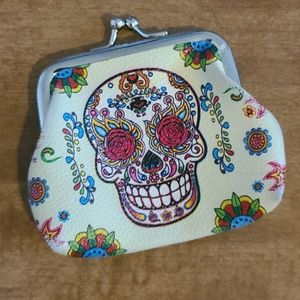 Sugar Skull Change Purse